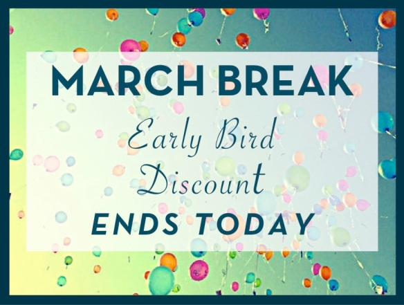 march break discount
